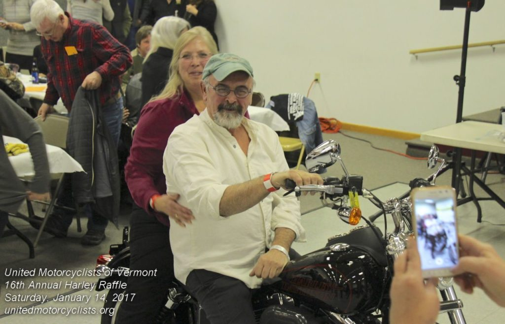 The winner of the Harley Davidson at UMV's 2017 Raffle