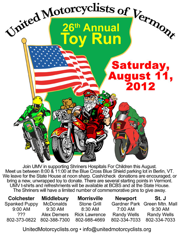 UMV Toy Run 2012 with locations