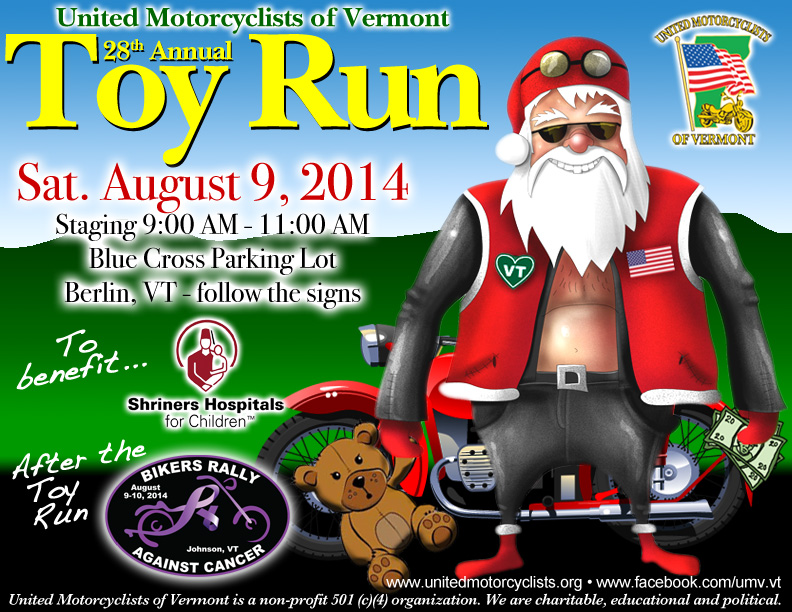 United Motorcyclists Of Vermont 2014 Toy Run