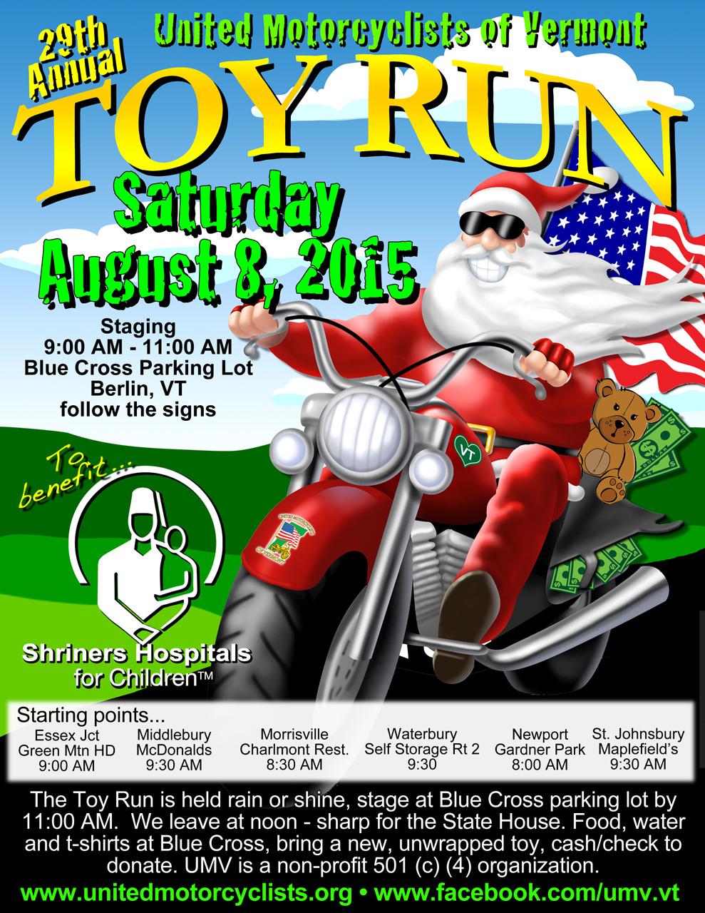 15th annual toy run - HD989×1280