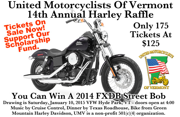 UMV 14th Annual Harley Raffle 2015