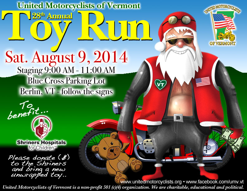United Motorcyclists of Vermont Toy Run 2014