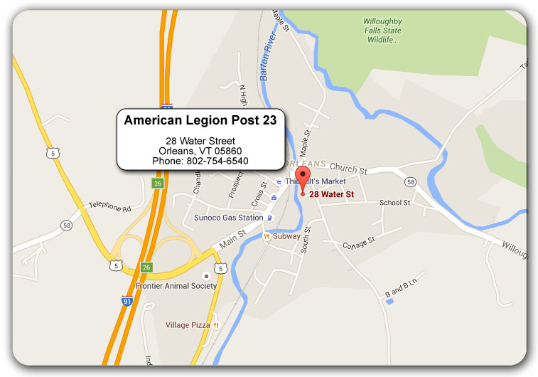 American Legion Orleans, VT