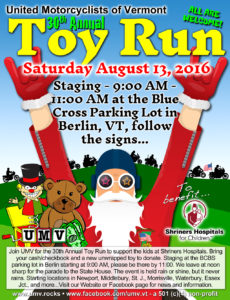 UMV 2016 Toy Run
