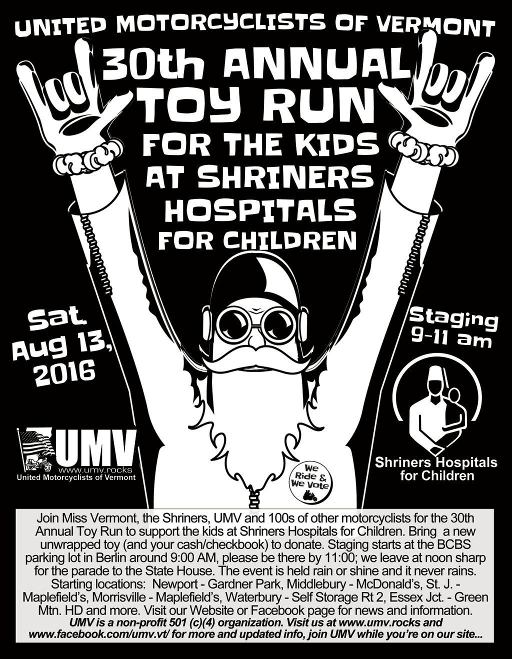 2016 Toy Run BW Flyer