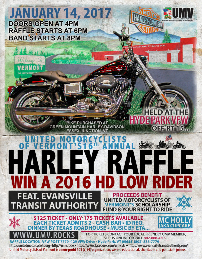 UMV 2017 Harley Raffle flyer