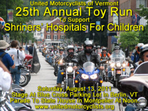 2011 United Motorcyclists of Vermont Toy Run