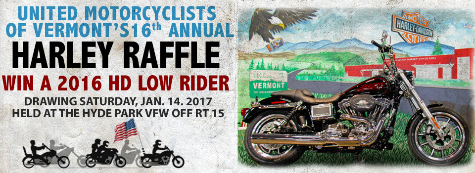 United Motorcyclists of Vermont's 2017 Harley Davidson Motorcycle Raffle