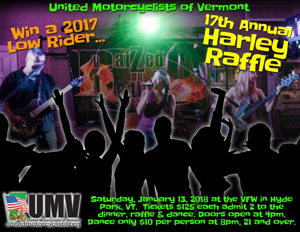 UMV Harley Raffle 2018 Raized on Radio