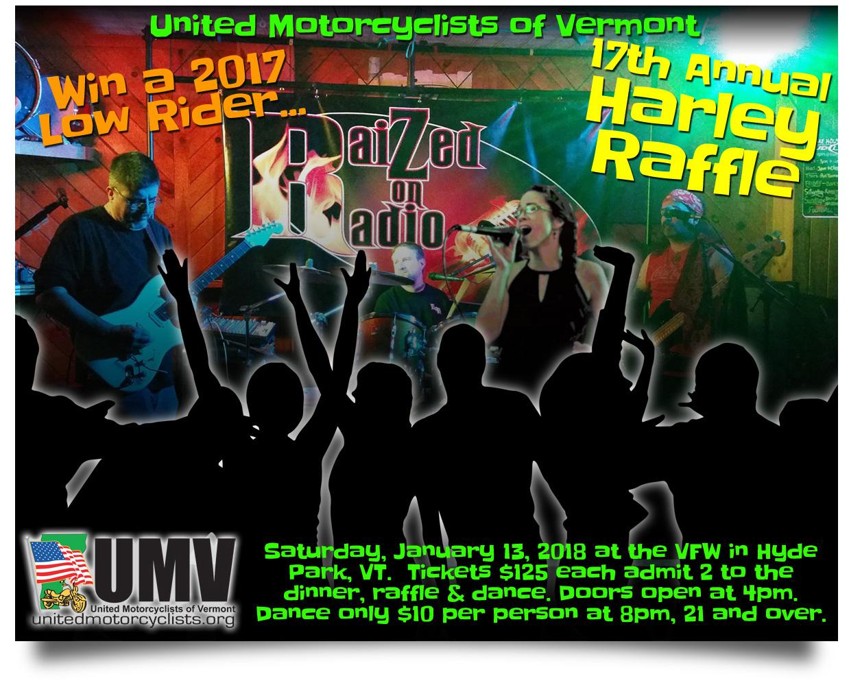 Raized on Radio UMV Harley Raffle