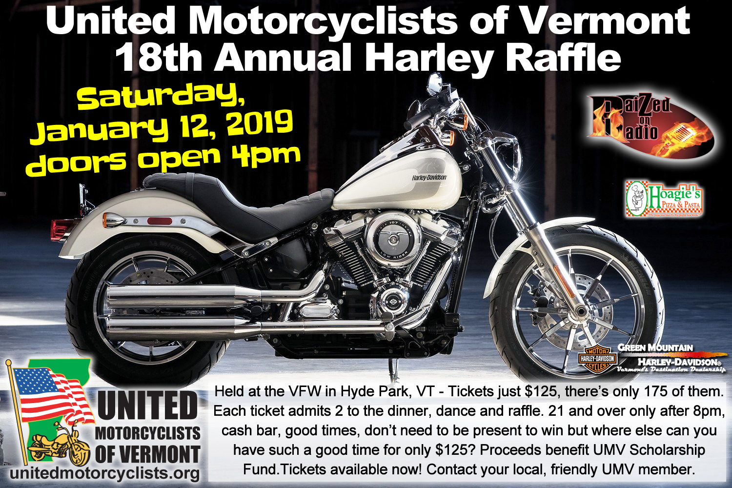 18th Annual UMV Harley Raffle 2019 | United Motorcyclists of Vermont